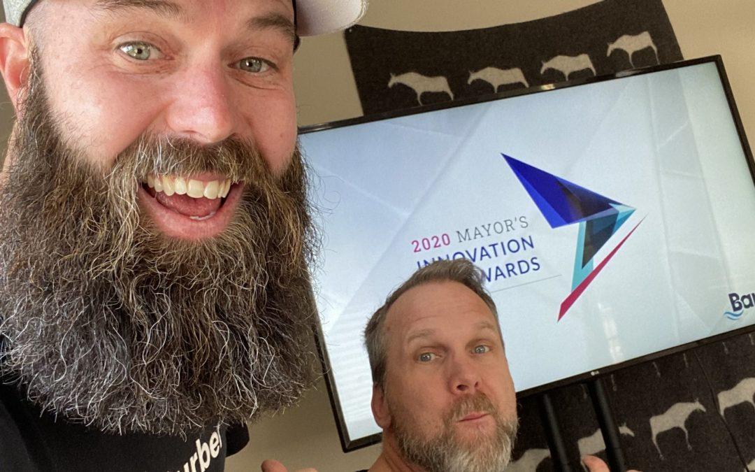 Chad and Brandon Win Mayors Innovation Award 2020